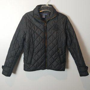 Ralph Lauren Sport Quilted Puffer Black Jacket